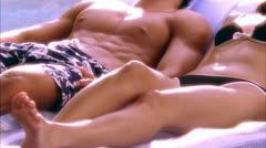 BODY COUPLE5 RAFT 02 Stock Footage