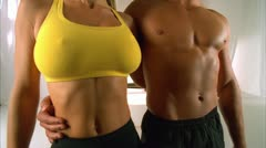 BODY COUPLE7 POSE 01 - stock footage