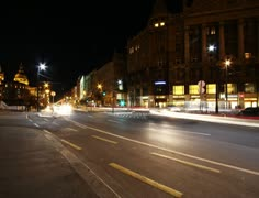 4K European City Budapest Hungary At Night Timelapse 13 Stock Footage