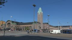 Timelapse of Helsinki Central railway station - stock footage