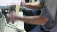 Turning Wood Working Wheel Stock Footage