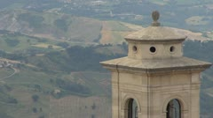 Tower in Republic of San Marino, Italy, Europe Stock Footage