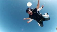 Free Falling Skydivers - stock footage