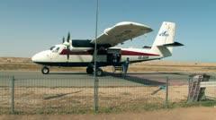 Parachuters Plane  Stock Footage