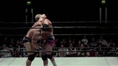 WWE wrestler Hardcore Holly suplex - stock footage