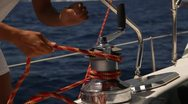 Stock Video Footage of SAILING KNOT MANEUVRE 4