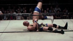 Pro wrestling move - DDT - stock footage