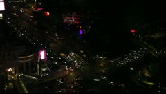 Traffic at night in Las Vegas Stock Footage