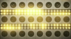 Speakers in light flashes wall - stock footage