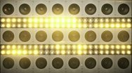 Speakers in light flashes wall Stock Footage