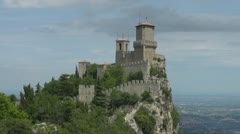 Time lapse of Guita Tower in Republic of San Marino Stock Footage