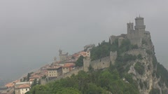 Time lapse of Guita Tower in Republic of San Marino - stock footage
