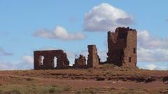 Broken Building in the Desert Stock Footage