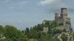 Time lapse of Guita Tower in Republic of San Marino - stock footage