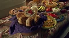 FOOD BREAKFAST_LUNCH 09 Stock Footage