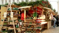 Christmas Fair Stock Footage