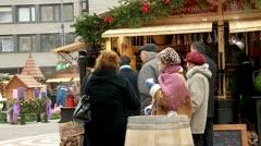 Christmas Fair Stock Footage