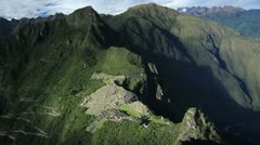 Machu Picchu Timelapse viewed from Huayna Picchu - stock footage