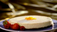 FOOD CHEESECAKE 02 Stock Footage