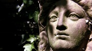 Stock Video Footage of Panning Shot of Ominous Statue HD