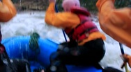 Stock Video Footage of Peru Whitewater Rafting on Urubamba River