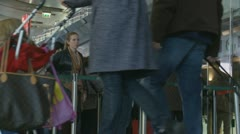 Queue at train ticket office in Rome (two) Stock Footage