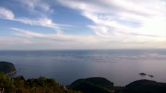 Adriatic coast and island St. Sunday and Katic on the sea, Montenegro time lapse Stock Footage