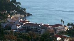 Adriatic coastal town Petrovac na moru, Montenegro Stock Footage