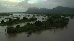 Niassa Rerserve, Lugenda River in flood Stock Footage