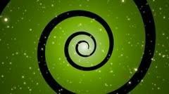 Stars Spiral Loop Green Stock Footage
