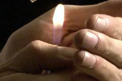 Lighting cigarette Stock Footage