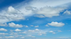 Beautiful blue sky with clouds, skyscape (High resolution - 4K) - stock footage