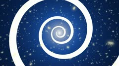 Spiral Transition Alpha Channel Blue Stock Footage