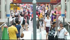 City Crowd Singapore - stock footage