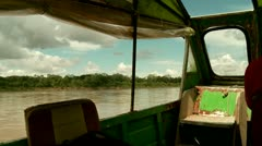 Amazon River, Shipping, Southamerica Stock Footage