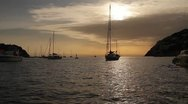 Stock Video Footage of SAILING SUNSET MALLORCA