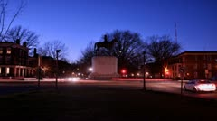 Monument Ave At Night - stock footage