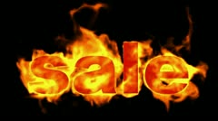 Burning sale word,hot sale. Stock Footage