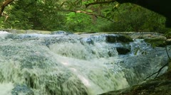 Small Mountain Waterfall 24 Stock Footage