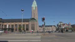 Helsinki Central railway station - stock footage