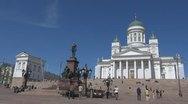 Timelapse Evangelical Lutheran cathedral Helsinki Finland landmark emblem symbol Stock Footage