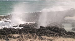 Blow Holes Cozumel Stock Footage