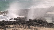 Stock Video Footage of Blow Holes Cozumel