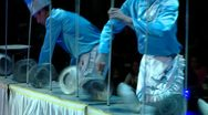 Circus artists in action Stock Footage