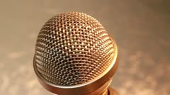 Microphone gold XCU 2 Stock Footage