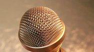 Microphone gold XCU 2 Stock Footage