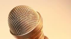 Microphone gold XCU 4 Stock Footage