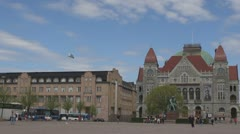 Finnish National Theatre Helsinki, Finland - stock footage