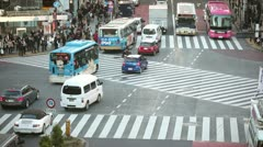 Tokyo Hachiko crossing time lapse - stock footage