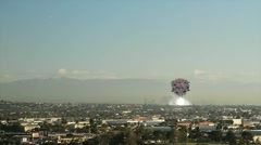 Explosion Rocks L.A. - stock footage